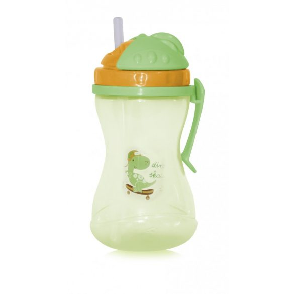 Baby Care Anatomická športová fľaška so slamkou 400ml