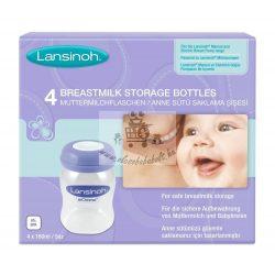 Lansinoh fľaše na skladovanie materského mlieka 160 ml 4 ks