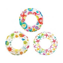 Intex nafukovací kruh s farebnou potlačou 61cm