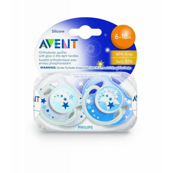 Avent Nočný cumlík 6-18mes. bez BPA - v pestrých farbách