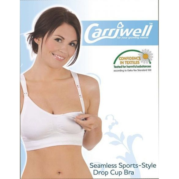 Carriwell podprsenka na dojčenie Push-up  L - biela