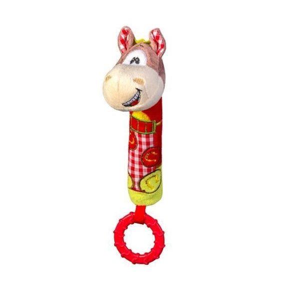 BabyOno Plyšový žuvací pištiaci koník