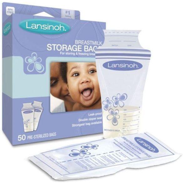 Lansinoh sáčky na skladovanie materského mlieka 50 ks