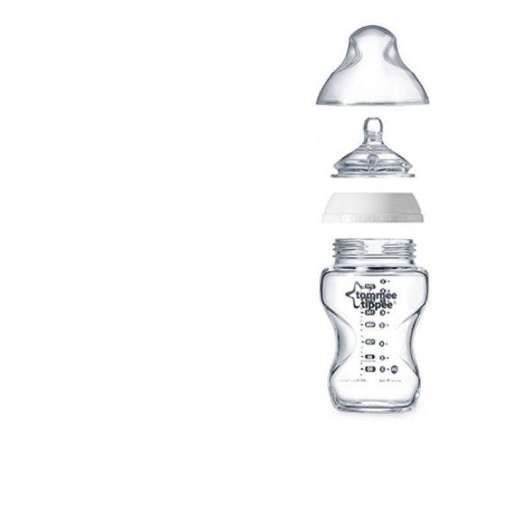 Tommee Tippee Closer To Nature sklenená dojčenská fľaštička 250ml