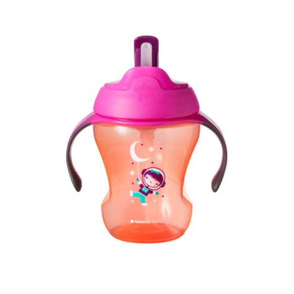 Tommee Tippee EXPLORA Easy Drink Straw Cup 230ml 6+ (netečúci hrnček so slamkou)