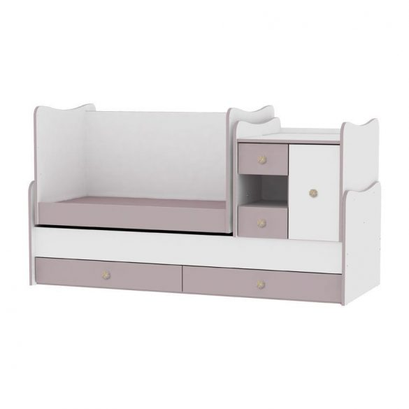 Lorelli MiniMax kombi postieľka 72x190 - white/capuccino