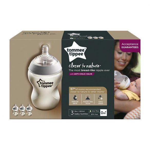 Tommee Tippee C2N 3x260ml dojčenská fľaštička