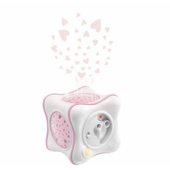 Chicco Kocka dúhová projekcia - pink 0m+