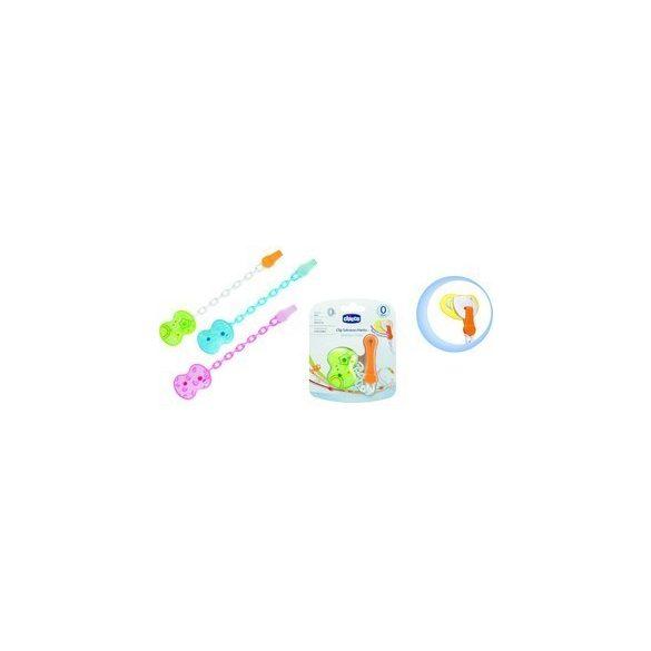 Chicco Reťazový držiak na cumlík - pestré farby