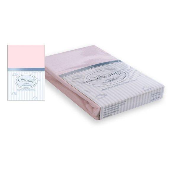 Scamp naťahovacie prestieradlo ružové 60x120-70x140 cm