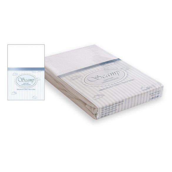 Scamp naťahovacie prestieradlo biele 60x120-70x140 cm
