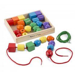 Melissa & Doug Drevená hračka na rozvoj zručnosti - Moje prvé navliekanie