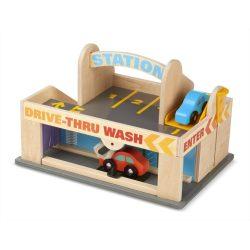 Melissa & Doug Drevená hračka - Autoumyváreň a garáž