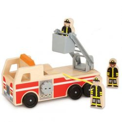 Melissa & Doug Drevené hasičské autíčko