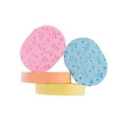 BabyOno Detská kúpeľná špongia - mäkká, pestro farebné