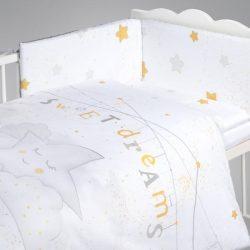 Albero Mio 5 dielna súprava do postieľky - K066 My Little Star sivo-zlatá