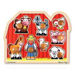 Melissa & Doug  Drevené puzzle - Farm