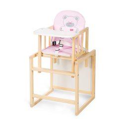 Klups AGA jedálenská stolička - pine - C4 pink hearts bear