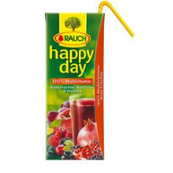 Happy Day 100% červený multivitamínový džús so slamkou 0,2L