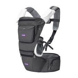 Clevamama ergonomický 5 polohový detský nosič - sivý