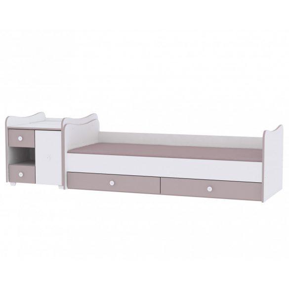 Lorelli MiniMax kombi postieľka 72x190 - White/Light Oak