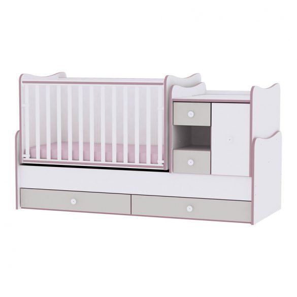 Lorelli MiniMax kombi postieľka 72x190 - White & Pink Crossline