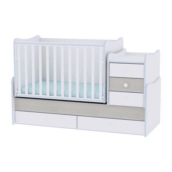Lorelli Maxi Plus kombipostielka 70x160 - White & Blue Elm