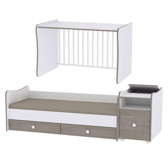 Lorelli Trend Plus kombi postieľka 70x165 - White & Vintage Gray