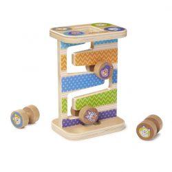 Melissa & Doug Drevená hračka na rozvoj zručnosti - Veža