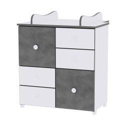 Lorelli Cupboard komoda - White & Vintage Grey