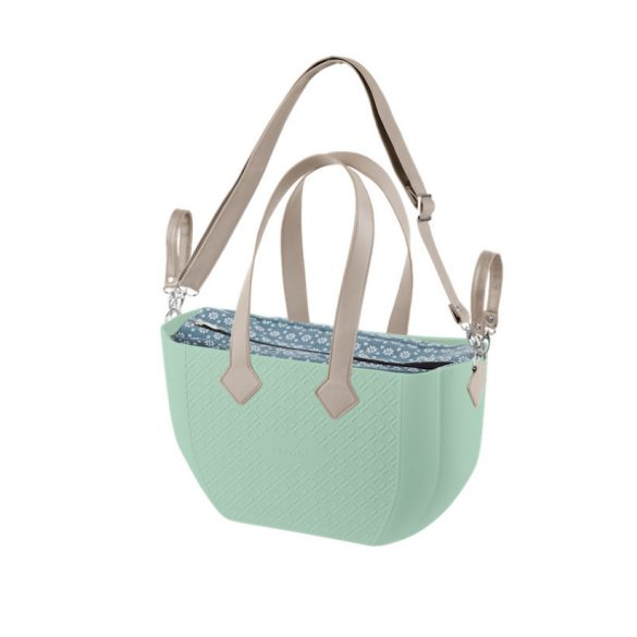 Nuvita myMIA prebaľovacia taška - Menta Flower Grey + RAMENO !! VÝPREDAJ !!