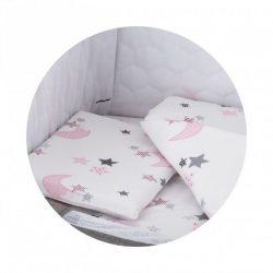 Chipolino Close To Me postieľná bielizeň k postieľke - White Pink Moon