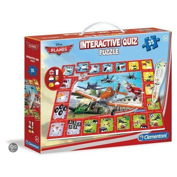 Clementoni Disney interaktív puzzle (35ks) - Lietadlá