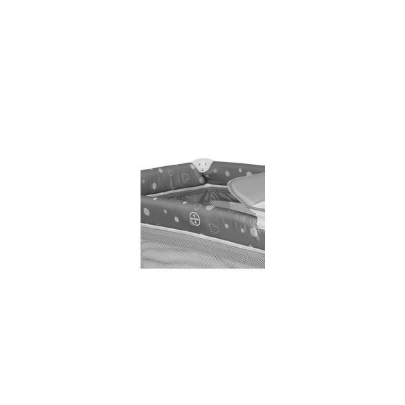Lorelli Moonlight 2 multifunkčná cestovná postieľka - Grey Cute Moon 2020
