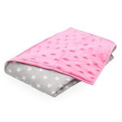 Scamp Minky prikrývka  75*100cm pink srdiečka a hviezdy