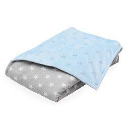 Scamp Minky prikrývka  75*100cm modré a sivé hviezdy