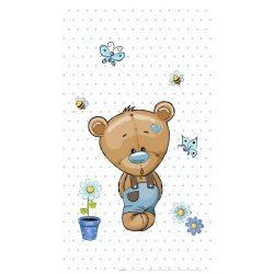 Best4Baby Medvedík modré bodky záclona do detskej izby