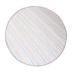 Prince Lionheart catchALL podložka pod jedálenskú stoličku, okrúhla - Chevron sivá/biela