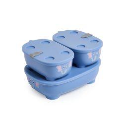 Prince Lionheart Bentomal 3 dielna dóza na potraviny - modrý sloník