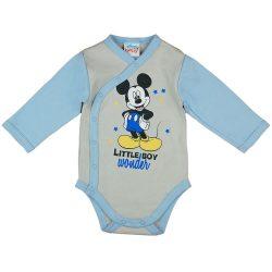 Asti Disney Mickey body s dlhým rukávom - melír/modré 50