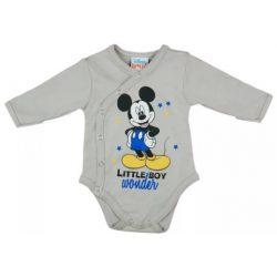 Asti Disney Mickey body s dlhým rukávom - melírovaná 62
