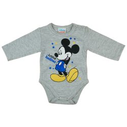 Asti Disney Mickey body s dlhým rukávom - melírované  56