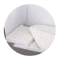 Chipolino posteľná bielizeň k postieľke Close To Me  - Beige Star