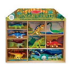 Melissa & Doug 9 dielna zbierka dinosaurov v drevenom boxe