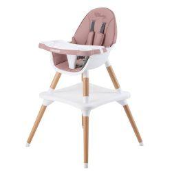 Chipolino Classy 3in1 jedálenská stolička - Peony Pink