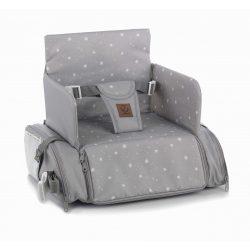 Jané Avant 2v1 Sedák na jedálenskú stoličku s bočnými vreckami - dim grey