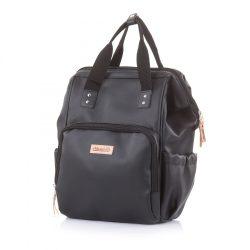 Chipolino Taška prebaľovacia/batoh - Black Leather 2021