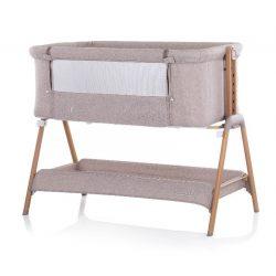 Chipolino Sweet Dreams postieľka k posteli - mocca/wood 2021