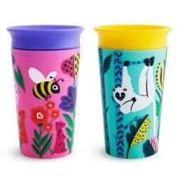 Munchkin 2ks Miracle 360 pohár 266ml - Wild Love Lemur/Bee