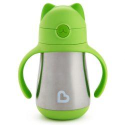 Munchkin Cool Cat™ termofľaša so slamkou 240ml - green